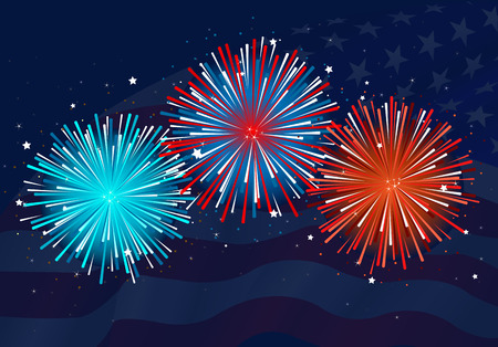 Illustration of abstract fireworks design