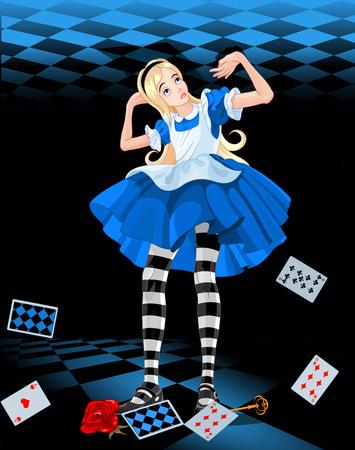 不思議の国のアリスのイラスト