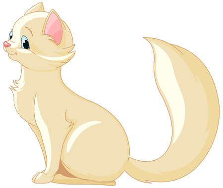 catling: Illustration of a cute kitten