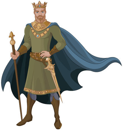 period costume: Illustration of majestic king