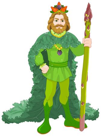 Illustration of vegetables king