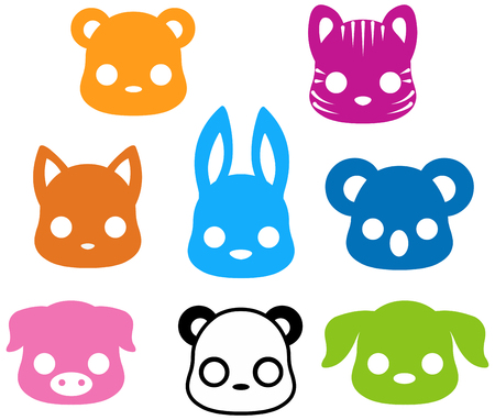 animal silhouette: Illustration of cute animal silhouette collection
