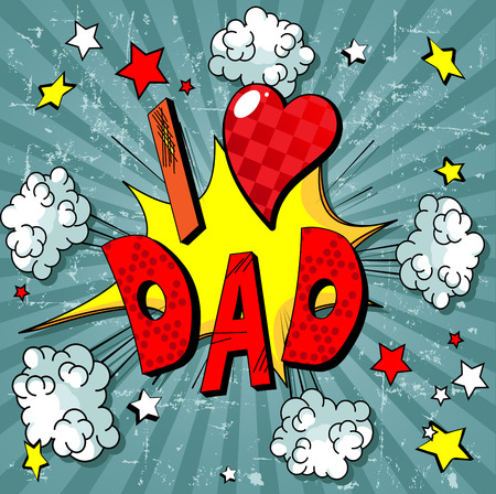 father: Illustration for father day Illustration