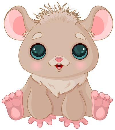 Illustration de très mignon hamster