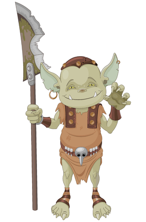 halberd: Illustration of very cute goblin creature
