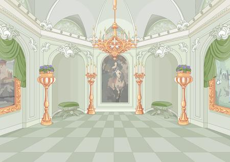 castillos: Ilustración de la sala de palacio