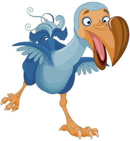 Illustration of cute Dodo bird Vectores