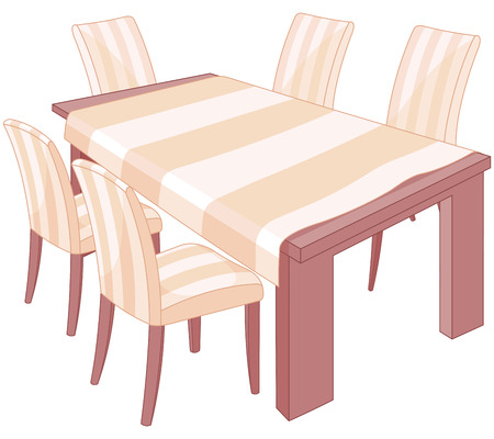 settings: Illustration of a dining table