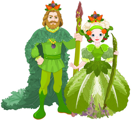 Illustration of vegetable the Royal Couple