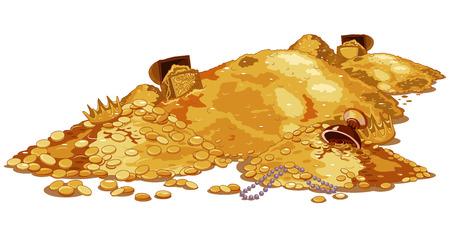 Illustration of a magic treasury 일러스트