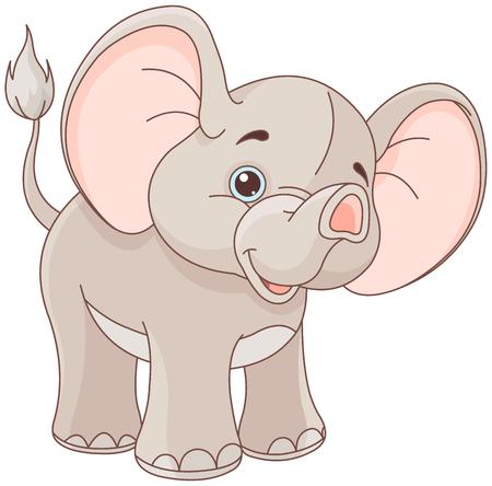 Ilustración de elefante lindo del bebé Ilustración de vector