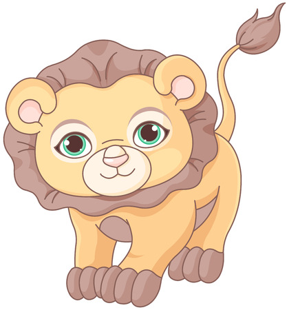 Illustration of cute baby lion