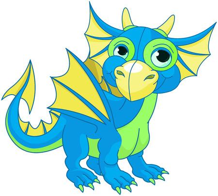 Illustration of baby dragon