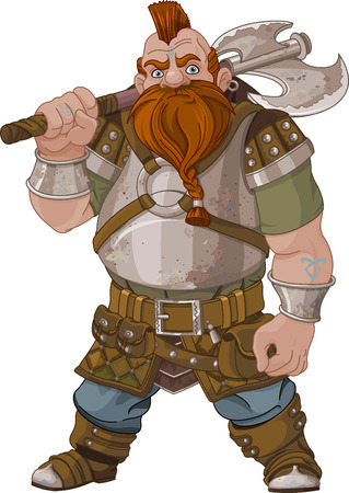 Fantasy style Dwarf with axe