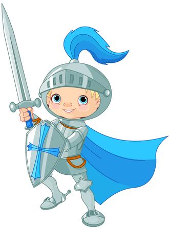 Illustration of fighting brave knight