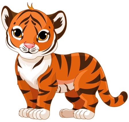 Ilustración de tigre lindo bebé Vectores