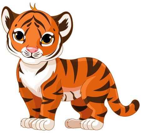 Illustration of cute baby tiger