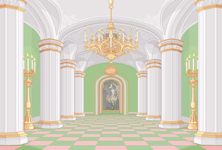 Illustration of Palace hall Reklamní fotografie - 67828624