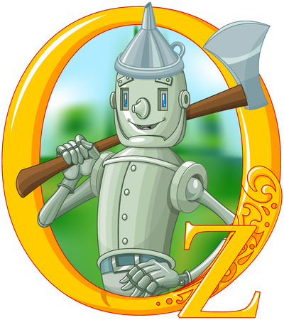 Illustration if woodmen with ax. Wizard of Oz illustration