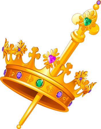 Mardi Gras crown and scepter