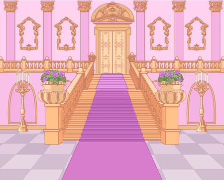 Luxus-Treppe in der magischen Palast