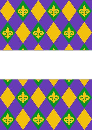 new orleans: Mardi Gras background design