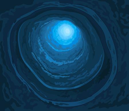 Illustration of wonderland rabbit hole Vectores