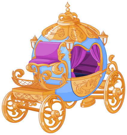 Cinderella fairy tale carriage Illustration
