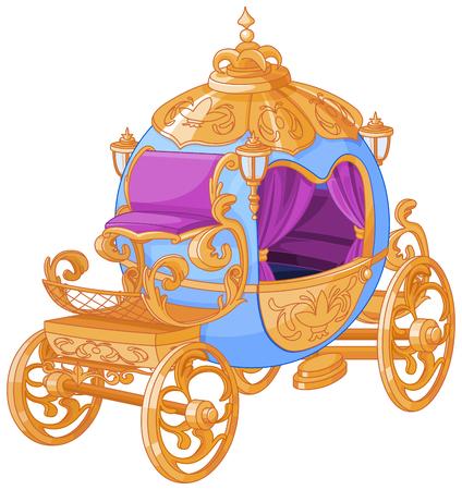 Cinderella fairy tale carriage Illustration