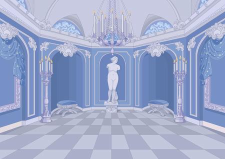 Illustrazione di Palazzo corridoio Vettoriali