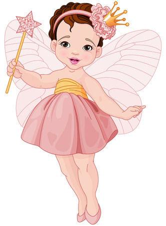 elves: Illustration of little cute fairy ballerina