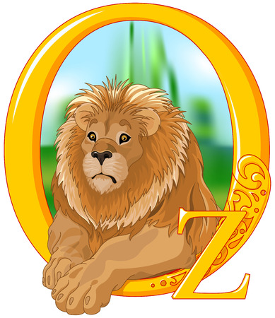 Illustration of cute Lion.    Wizard of Oz illustration Иллюстрация