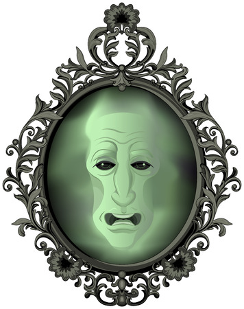 The Magic Mirror on the wall Illustration