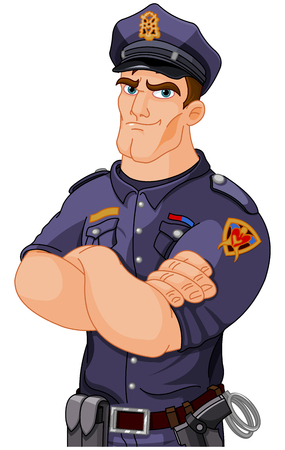 Illustration of police officer Ilustrace