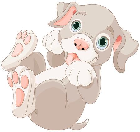 purebred: Illustration of cartoon puppy are playing Illustration