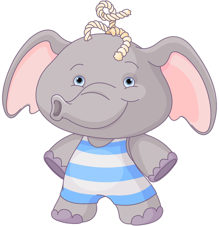 Illustration of cute baby elephant boy Illustration