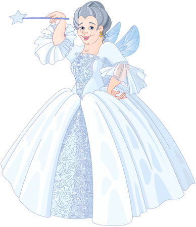Illustration of Fairy godmother Stok Fotoğraf - 76864164