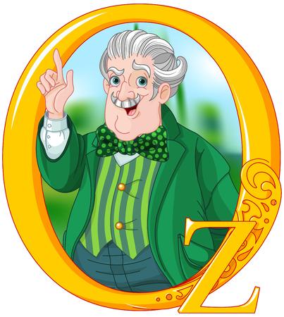 Mago di Oz. Illustrazione guidata di Oz