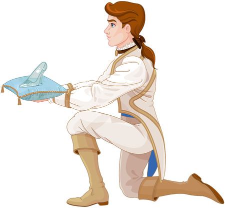 Prince presents a glass slipper