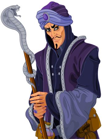 Illustration of Arabian Nights treacherous vizier