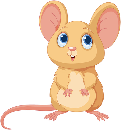 help: Illustration of adorable mice Illustration
