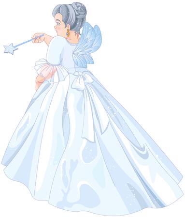 Illustration der feenhaften Patin Standard-Bild - 79491146