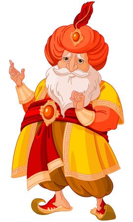 Illustration of very cute Sultan Vectores