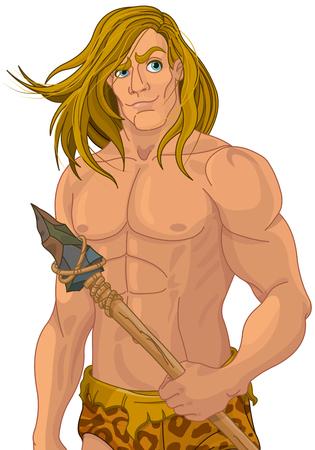 image: Illustration of an ape man