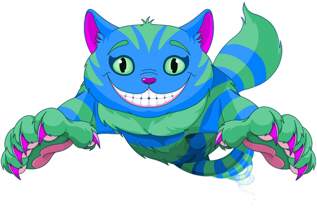 Cheshire Cat jumping and disappearing