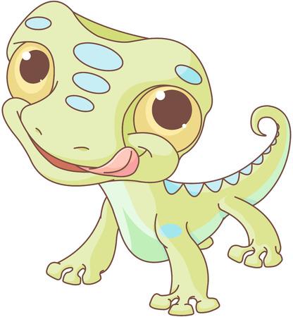 Illustration of very cute lizard
