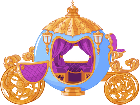 Illustration of Cinderella fairy tale carriage