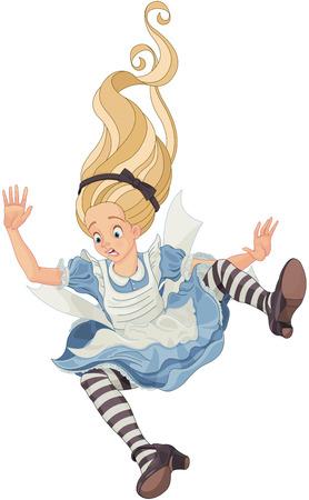 Alicja spada w dół króliczej nory