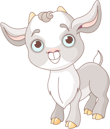 Illustration of very cute goat.