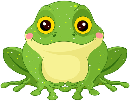drawings image: Illustration of cute green toad Illustration